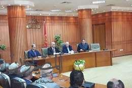 مؤتمر صحفي رئيس هيئة تعاونيات البناء والإسكان بورسعيد