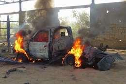 تدمير سيارة مفخخة بشمال سيناء