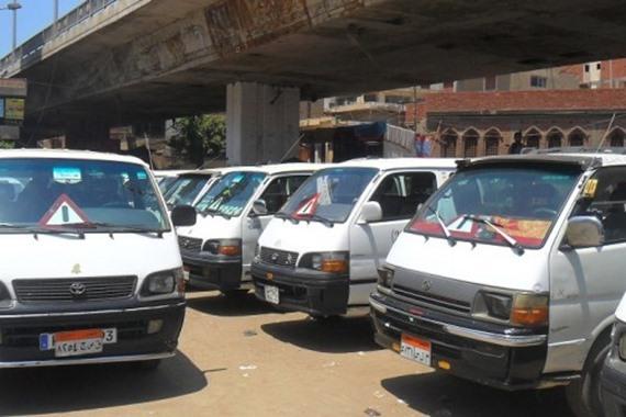 اضراب سائقي الميكروباص
