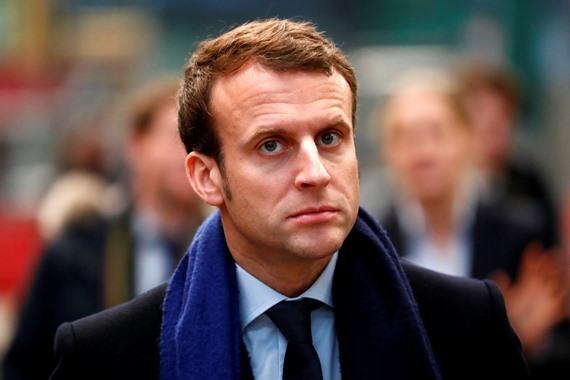 المرشح الرئاسي الفرنسي إيمانويل ماكرون