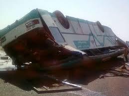 مصرع وإصابة 21 في انقلاب حافلة ركاب بطريق الجيش بالمنيا