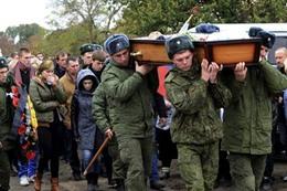 جثمان أحد الجنود الروس