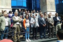 """صحفيون محتجون على حبس """"قلاش"""": الصحافة مش بتخاف"""