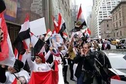وفود النظام في مواجهة الإخوان بأمريكا