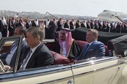 استقبال الملك سلمان بالأردن