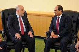 «السيسي» يلتقي برئيس الوزراء العراقي في الأردن