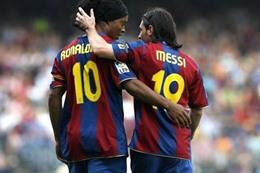ميسي و رونالدينيو