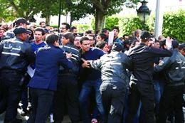 احتجاجات في محافظة تطاويين التونسية