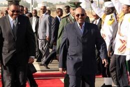 البشير ورئيس الوزراء الإثيوبي