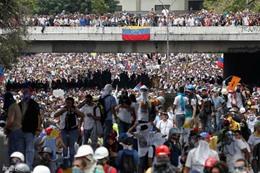 احتجاجات فى فنزويلا