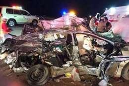 مصرع عائلة مصرية في حادث بالسعودية