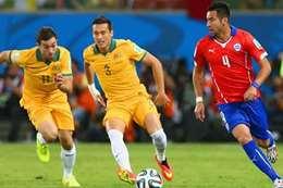 تشيلي يتأهل لقبل نهائي كأس القارات بالتعادل مع استراليا