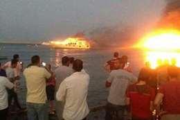 اندلاع حريق في 3 لنشات سياحية بالغردقة