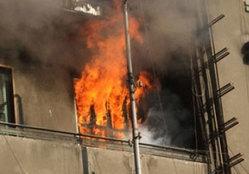 حريق منزل ببني مزار