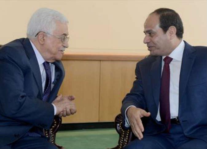"""""""السيسى وعباس"""" يبحثان خطط إعادة إعمار غزة"""