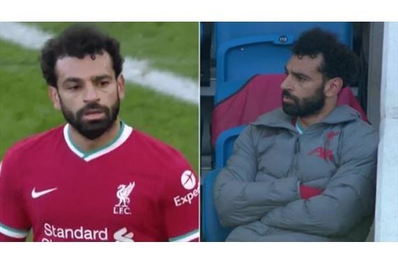 صورة تعليق غريب من مدرب ليفربول علي غضب محمد صلاح بعد استبداله