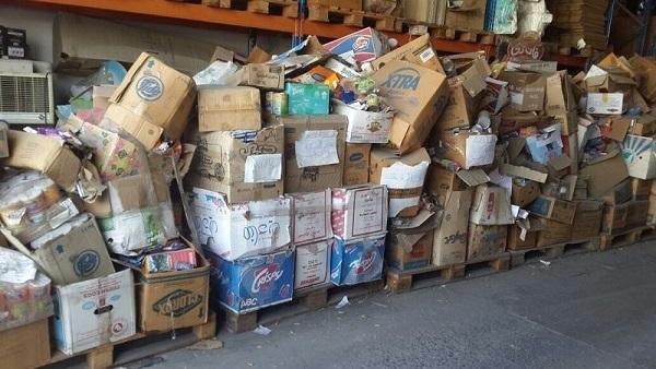 مصادرة 8 أطنان مواد غذائية و13 ألف علبة سجائر بالمنيا