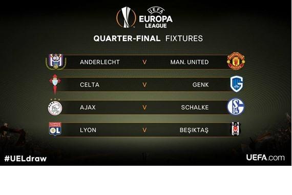 قرعة دور الـ8 من بطولة الدوري الأوروبي