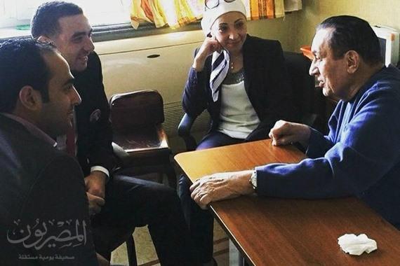 أول ظهور لمبارك بعد برائته