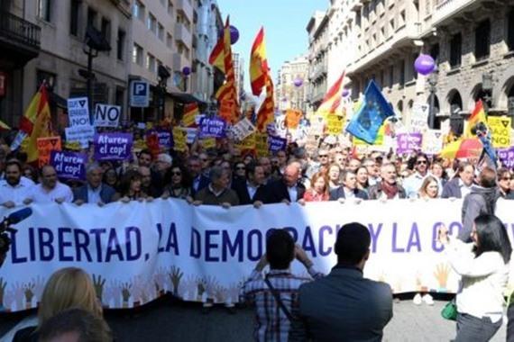 مظاعرات في برشلونة