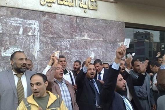 اضراب محامي المنيا