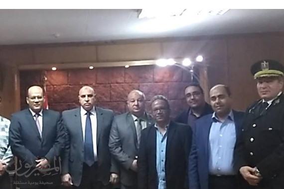 اجتماع مدير الأمن ونقيب أطباء السويس