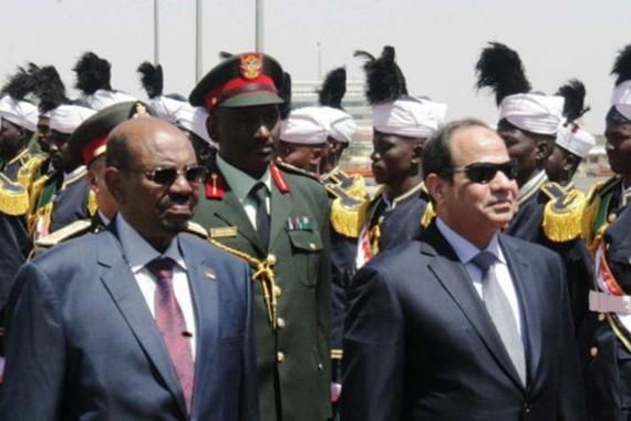 الرئيسان المصري والسوداني