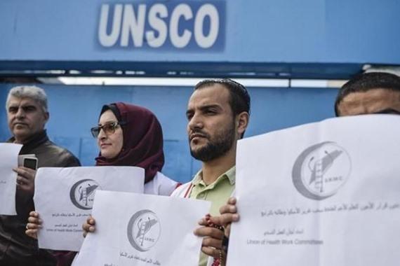 """وقفة بغزة استنكاراً لموقف الأمم المتحدة من تقرير """"إسكوا"""""""