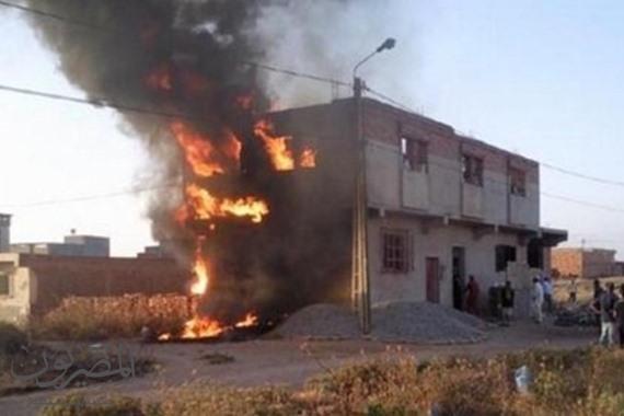 حرق المنازل