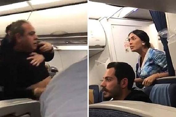 مشاجرة بين راكب ومضيفة جوية قبيل هبوط الطائرة