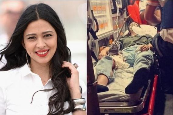 صورة إصابة فنانة شهيرة برصاص الاحتلال الإسرائيلي