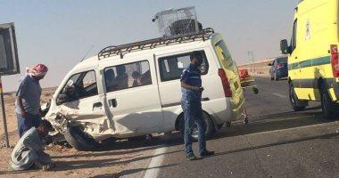 مصرع طفل وإصابة 3 آخرين فى حادث بطريق السويس