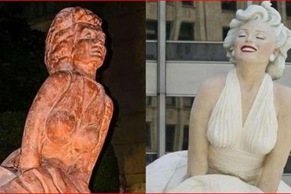 النسخة المصرية من تمثال مارلين مونرو