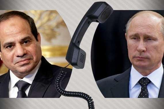 السيسي و بوتين يتباحثا هاتفياً تطورات المنطقة