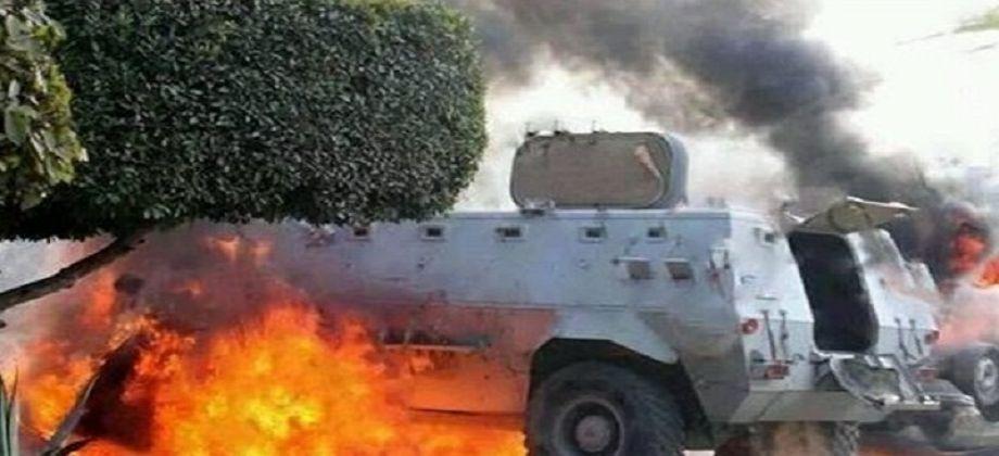 إصابة 3 من قوات الشرطة في انفجار عبوة ناسفة