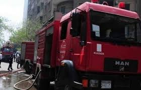 إخماد حريق بمستشفي التامين الصحي في الشرقية
