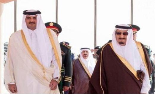 سلمان يصل قطر