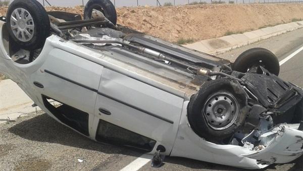 إصابة 4 في انقلاب سيارة برشيد