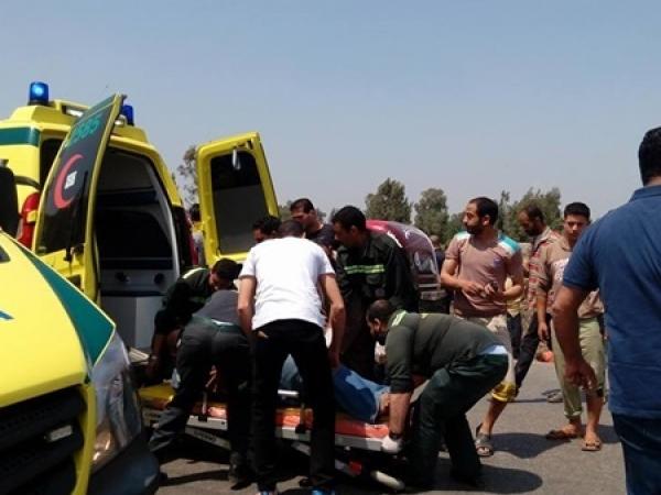 مصرع وإصابة خمسة بحادث في كفر الشيخ