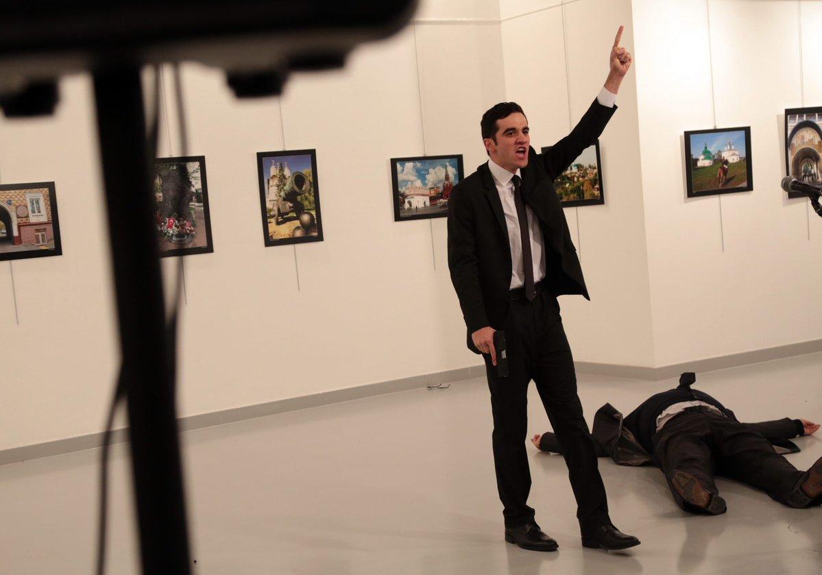 فيديو جديد لحادث اغتيال السفير الروسي